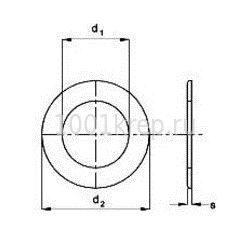 DIN 125 B / ГОСТ 11371-78 Шайба плоская с фаской, форма В