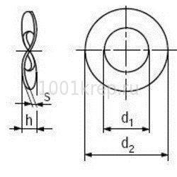 DIN 137 B / Шайба пружинная волнистая / тарельчатая