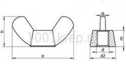 DIN 315 AF / ГОСТ 3032 Гайка барашковая с округлыми / прямоугольными лепестками