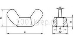 DIN 315 GF / ГОСТ 3032 Гайка барашковая с округлыми / прямоугольными лепестками