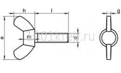 DIN 316 AF / Винт барашковый с округлыми/ прямоугольными лепестками