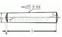 DIN 7/ ГОСТ 3128 Штифт цилиндрический незакалённый