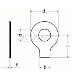 DIN 93/ ГОСТ 13463, 13464 Шайба стопорная / лапчатая с одной лапкой